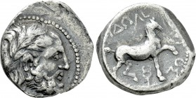 KINGS OF PAEONIA. Audoleon (Circa 315-286 BC). Tetradrachm. Astibos or Damastion mint.