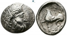 "Eastern Europe. Imitation of Philip II of Macedon circa 300-100 BC. Gjurgjevac, ""Mit liegendem Achter"" type. Tetradrachm AR"