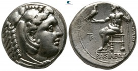 Kings of Macedon. Kition. Time of Alexander III - Philip III circa 325-320 BC. Struck under Pumiathon. Tetradrachm AR
