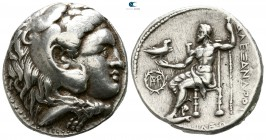 "Kings of Macedon. Babylon. Alexander III ""the Great"" 336-323 BC. Struck circa 317-311 BC. Tetradrachm AR"