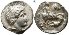 Kings of Paeonia. Patraos circa 335-315 BC. Tetradrachm AR
