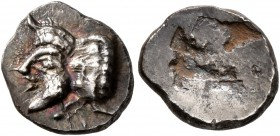 SPAIN. Emporion. Circa 450-425 BC. Trihemiobol (Silver, 10 mm, 1.09 g). Forepart of a man-headed bull to left. Rev. Rough incuse. Campo pl. XVI, 3. CN...