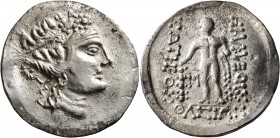 CELTIC, Lower Danube. Imitations of Thasos. Late 2nd-1st century BC. Tetradrachm (Silver, 33 mm, 16.39 g, 12 h). Celticized head of Dionysos to right,...