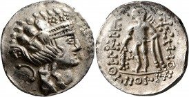 CELTIC, Lower Danube. Imitations of Thasos. Late 2nd-1st century BC. Tetradrachm (Silver, 30 mm, 16.79 g, 12 h). Celticized head of Dionysos to right,...