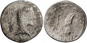 CELTIC, Middle Danube. Eravisci. Mid to late 1st century BC. Denarius (Silver, 18 mm, 2.89 g, 7 h), imitating an issue of L. Roscius Fabatus of 59 BC....