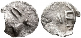 SICILY. Messana. 480-462 BC. Hexas - Dionkion (Silver, 6 mm, 0.07 g, 12 h). Head of a rabbit to right. Rev. ME. Caltabiano 286. HGC 2, 825. SNG ANS 32...