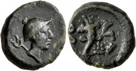 THRACE. Odessos. Circa 190/88-115/05 BC. Chalkous (Bronze, 13 mm, 2.06 g, 12 h). Helmeted head of Hermes to right with kerykeion over shoulder. Rev. Ο...