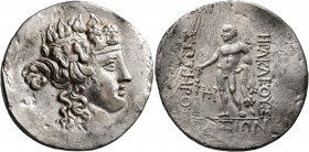 ISLANDS OFF THRACE, Thasos. Circa 148-90/80 BC. Tetradrachm (Silver, 32 mm, 16.61 g, 12 h). Head of Dionysos to right, wearing ivy-wreath. Rev. HΡAKΛE...