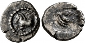 KINGS OF THRACE. Sparadokos, circa 464-444 BC. Diobol (Silver, 12 mm, 1.34 g, 3 h). ΣΠA Forepart of a horse to left. Rev. Eagle flying left, holding s...