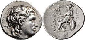 KINGS OF THRACE. Lysimachos, 305-281 BC. Tetradrachm (Silver, 31 mm, 17.06 g, 7 h), Amphipolis, circa 288/7-282/1. Diademed head of Alexander the Grea...