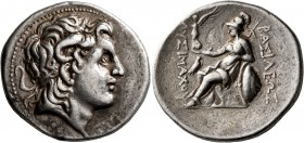 KINGS OF THRACE. Lysimachos, 305-281 BC. Tetradrachm (Silver, 30 mm, 16.93 g, 1 h), Abydos (?), circa 297/6-282/1 BC. Diademed head of Alexander the G...