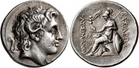 KINGS OF THRACE. Lysimachos, 305-281 BC. Tetradrachm (Silver, 30 mm, 17.04 g, 1 h), Lampsakos, circa 297/6-282/1 BC. Diademed head of Alexander the Gr...