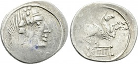 EASTERN EUROPE. Imitations of Roman Republican. Eravisci (After 75 BC). Denarius. Imitating Q. Titius.