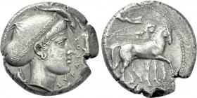SICILY. Syracuse. Second Democracy (466-405 BC). Tetradrachm.