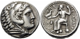 KINGS OF MACEDON. Alexander III 'the Great', 336-323 BC. Tetradrachm (Silver, 24.5 mm, 17.21 g, 9 h), struck during the reign of Philip III by the Reg...