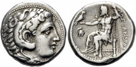 KINGS OF MACEDON. Alexander III 'the Great', 336-323 BC. Tetradrachm (Silver, 26 mm, 16.93 g, 5 h), struck during the reign of Philip III by the Regen...
