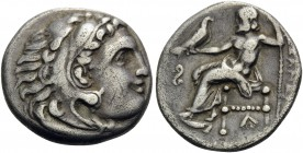KINGS OF MACEDON. Alexander III 'the Great', 336-323 BC. Drachm (Silver, 18 mm, 4.07 g, 8 h), struck under Philip III Arrhidaios, Lampsakos, 323-317. ...