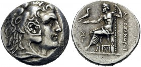 KINGS OF MACEDON. Alexander III 'the Great', 336-323 BC. Tetradrachm (Silver, 28 mm, 16.91 g, 12 h), struck posthumously under Antigonos II Gonatas, P...