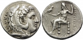 KINGS OF MACEDON. Philip III Arrhidaios, 323-317 BC. Tetradrachm (Silver, 26 mm, 17.05 g, 11 h), Babylon. Head of youthful Herakles in lion's skin hea...