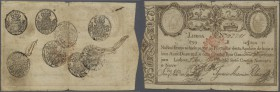 Portugal: 12.800 Reis 1828 P. 44, for this type of note it is a great condition: no tapes, only slight border wear, relatively clean paper, not many h...