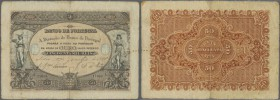 Portugal: 50.000 Reis 1888 P. 62, higly rare note in nice condition, center and hoizontal fold, handling in paper, probably repaired tear at lower bor...