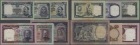 Portugal: set of 6 different banknotes containing 100 Escudos 1957 P. 159 (VF-), 50 Escudos 1953 P. 160 (F+), 20 Escudos 1960 P. 163a (F+), 50 Escudos...