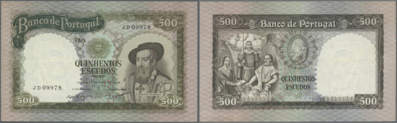 Portugal: 500 Escudos 1968 P. 162, only very slight vertical and horizontal fold...