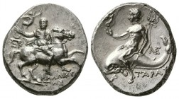 Calabria. Tarentum, 240-228 BC. AR Nomos. (6.43 g, 20 mm)