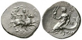 Calabria. Tarentum, 240-228 BC. AR Nomos. (6.41 g, 22 mm)