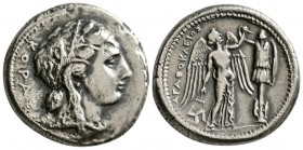 Sicily. Syracuse. Agathocles, 317-289 BC. AR Tetradrachm.(16.10 g, 15.95 mm)