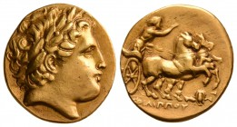 Kings of Macedon. Philip II, 323-315 BC. AV Stater.(8.3 g, 19.51 mm)