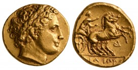 Kings of Macedon. Philip II, 323-315 BC. AV Stater.(8.5 g, 18.72 mm)