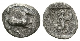 Thessaly. Perrhaebi. 480-400 BC. AR Obol (0.6g 11.2mm)