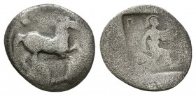Thessaly. Perrhaebi. 480-400 BC. AR Obol (0.7g 11.1mm)