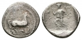 THESSALY, Larissa. 460-400 BC. AR Obol (1.0g 11.4mm).