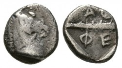 THESSALY, Thessalian League. 470s-460s BC. AR Obol (0.6g 9.1mm). 