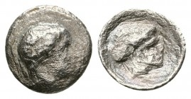 THESSALY, Phalanna. Mid 4th century BC. AR Hemiobol (0.45g 9.18mm). 