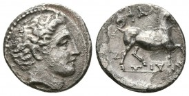 THESSALY, Phalanna. Mid 4th century BC. AR Drachm (2.4g 15.2mm,). 