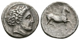 THESSALY, Phalanna. Mid 4th century BC. AR Drachm (2.1g 15.1mm,). 