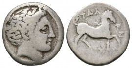 THESSALY, Phalanna. Mid 4th century BC. AR Drachm (2.2g 15.6mm,). 