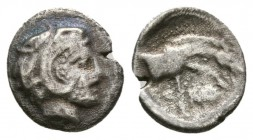 THESSALY, Skotussa. Early to mid 4th century BC. AR Hemiobol (0.6g 9.9mm). 