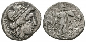 THESSALY, Thessalian League. Mid-late 2nd century BC. AR Drachm (3.9g 18.3mm). 