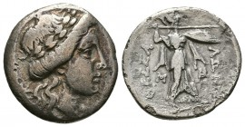 THESSALY, Thessalian League. Mid-late 2nd century BC. AR Drachm (3.50g 9.2mm). 