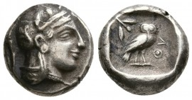Attica, Athens. 465/2-454 BC. Drachm (4.60g, 14.80mm)