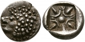 Ionia, Miletos.Late 6th-early 5th century BC. AR Obol (1.1 g. 10.5 mm)
