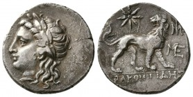 IONIA. Miletos.Circa 225-190 BC. AR Drachm (5.0 g. 20 mm)