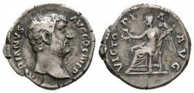 Hadrian, AD 117-138. AR Denarius, (3.30 g, 17.20 mm)