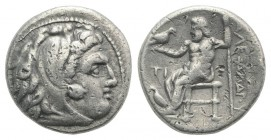 Kings of Macedon, Philip III Arrhidaios (323-317 BC). AR Drachm (16mm, 4.14g, 12h). In the name and types of Alexander III. Sardes, c. 322-319/8 BC. H...