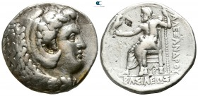 Kings of Macedon. Arados. Time of Alexander III - Philip III circa 324-320 BC. In the name and types of Alexander III. Struck under Menes or Laomedon....