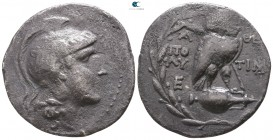 Attica. Athens. ΠΟΛΥ- (Poly-), TIΜΑΡΧΙΔΗΣ (Timarchides), magistrates circa 181-180 BC. Tetradrachm AR. New Style coinage. Class I
